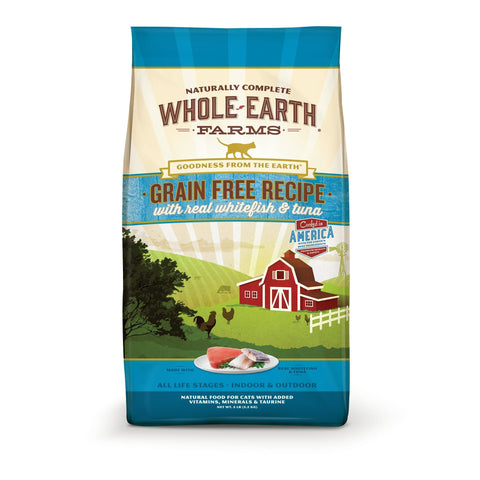 Whole Earth Farms Grain Free Whitefish & Tuna Recipe Dry Cat Food, 10 Lb