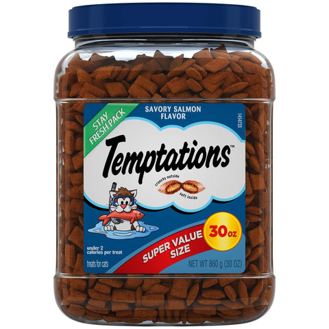 Temptations Classic Cat Treats SAVORY SALMON 30 Oz
