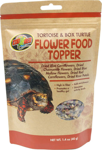 Zoo Med Tortoise and Box Turtle Flower Food Topper 1.4 Oz