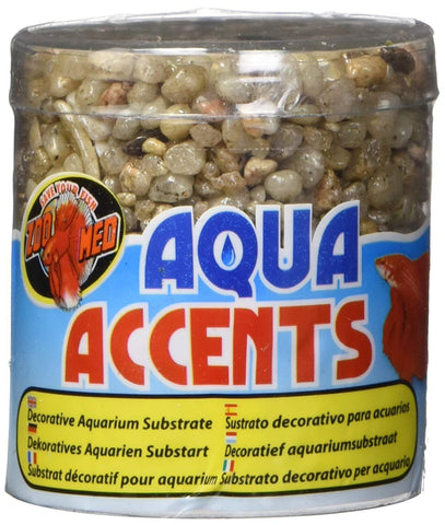 Zoo Med Aqua Accents Decorative Aquarium Substrate Light River Pebbles
