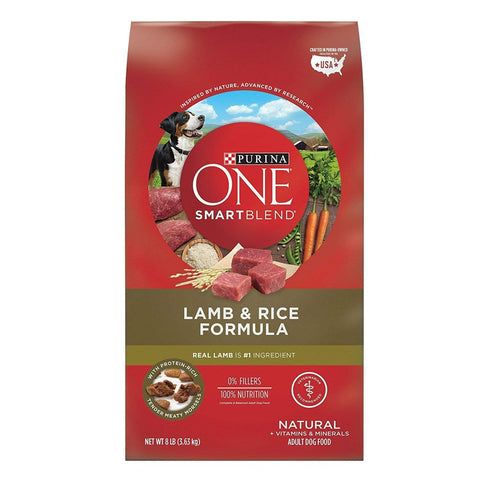 Purina ONE SmartBlend Natural Formula Adult Dry Dog Food 3 FLAVORS beef, beef and rice, chicken, dog, dog food, dry dog food, food, lamb, purina one, rice, smartblend Pets Go Here, petsgohere