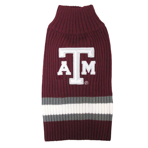 Texas A&M Dog Sweater-DOG-Pets First-X-SMALL-Pets Go Here l, m, ncaa, ncaa sweater, pets first, s, xl, xs Pets Go Here, petsgohere