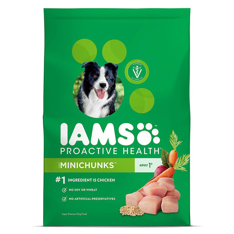 Iams PROACTIVE HEALTH Adult MiniChunks Dry Dog Food-DOG-Pets Go Here-3.3 lbs.-Pets Go Here 15 lb, 3 lb, 30 lb, 38.5 lb, 7 lb, adult, chicken, chunky, dog, dog food, dry dog food, food, iams, large, proactive Pets Go Here, petsgohere