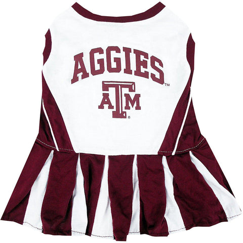 Texas A&MDog Cheerleader Costume Dress-DOG-Pets First-X-SMALL-Pets Go Here