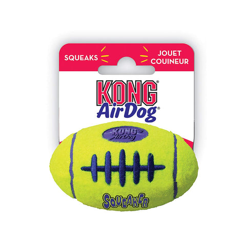 Kong Air Dog SqueakAir Football Dog Toy dog, dog toy, football fanatics, kong, squeak, squeaker, stuffed, toy Pets Go Here, petsgohere