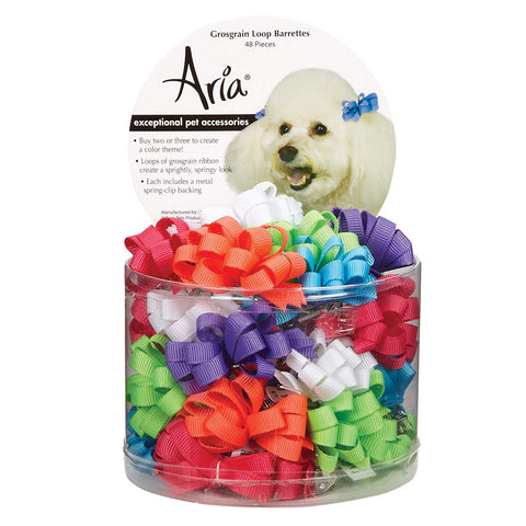 Aria Grosgrain Ribbon Loops Barrettes for Dogs