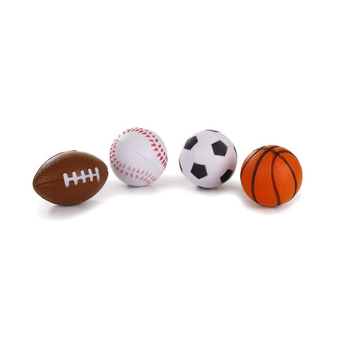 Team Sports Balls Cat Toys 4 PACK