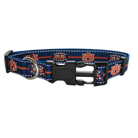 Auburn Tigers Dog Collar-DOG-Pet Goods-LARGE-Pets Go Here l, m, ncaa, pet goods, s, sports, sports collar, xl, xs Pets Go Here, petsgohere