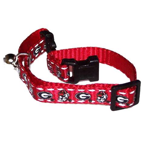 Georgia Bulldogs Breakaway Cat Collar-CAT-Pet Goods-Pets Go Here cat collar sports, ncaa, ncaa cat collar, nylon, pet goods, reflective, sports, sports collar Pets Go Here, petsgohere
