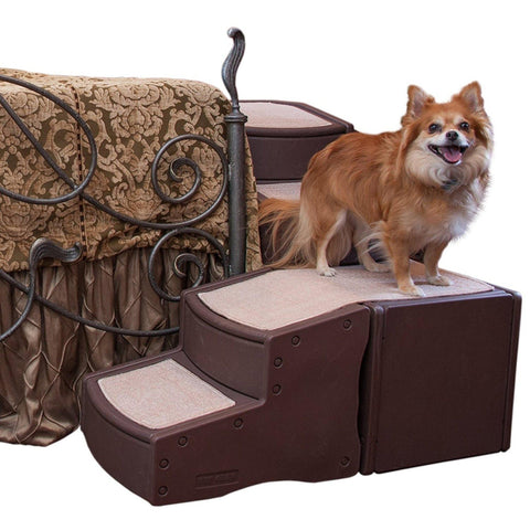 Pet Gear Easy Step Wrap Around 4 Step Pet Stairs Chocolate-DOG-Pet Gear-Pets Go Here brown, chocolate, furniture, pet gear, stairs Pets Go Here, petsgohere