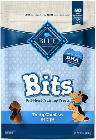 Blue Buffalo Blue Bits Tasty Chicken Recipe Soft-Moist Training Dog Treats, 16 Oz