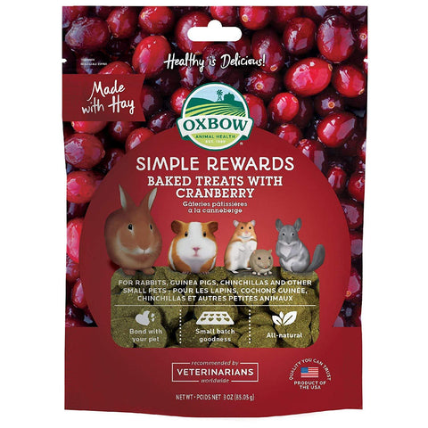 Oxbow Simple Rewards Cranberry Baked Treats