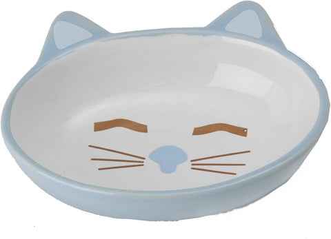 PetRageous Here Kitty Oval Blue 5.5""