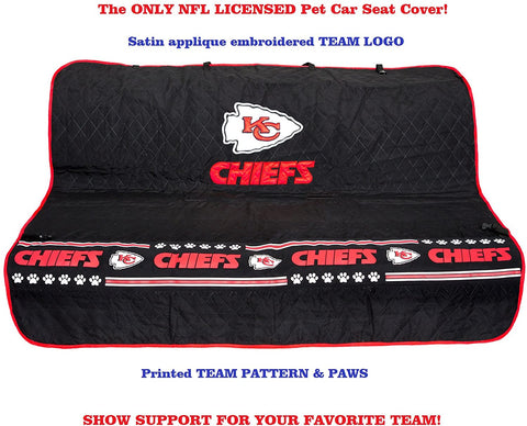 NFL KC Chiefs Back Seat Protector