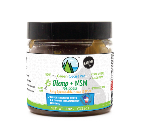 Green Coast Pet Hemp + MSM Spreadable