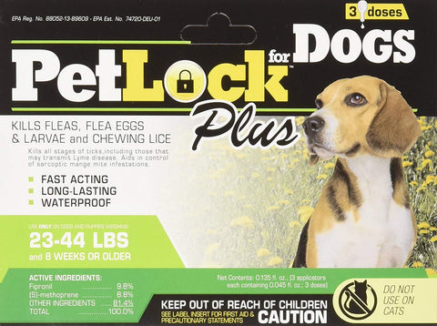 Petlock Plus Security Flea Repellent for Dogs S