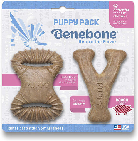 Benebone Puppy Dog Chew Toy Puppy Pack