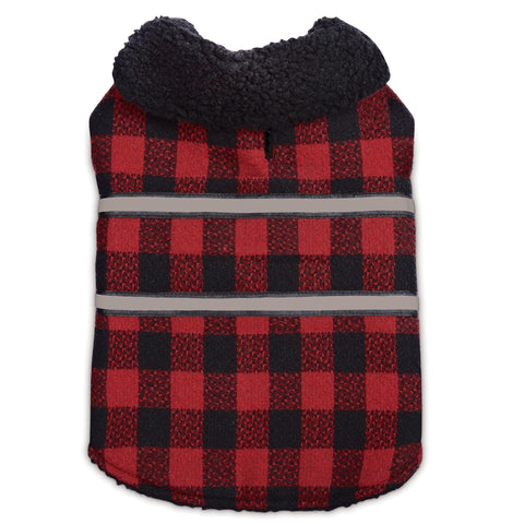 ThermaDog Zack and Zoey Plaid Reversible Thermal Blanket Coat for Dogs-DOG-Zack & Zoey-LARGE-Pets Go Here