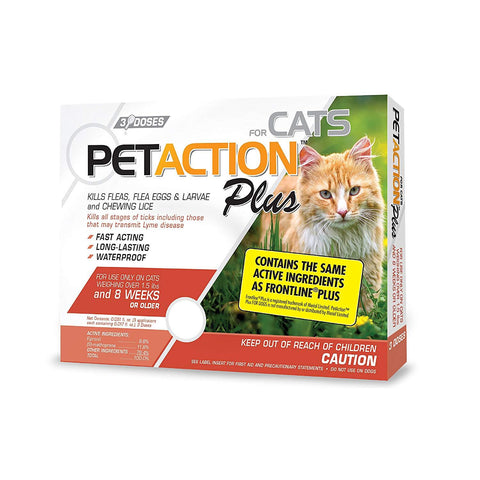 PetAction Plus Flea and Tick Treatment Cat 8 Month