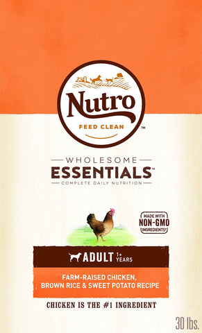 Nutro Natural Adult Dry Dog Food Farm-Raised Chicken, Brown Rice & Sweet Potato Recipe, 30 lb. Bag