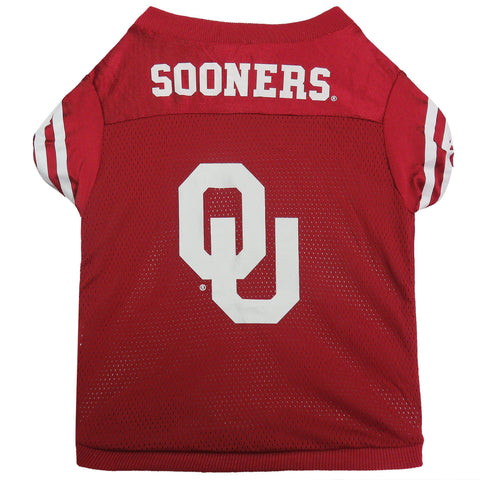 University of Oklahoma Dog Football Jersey 2-DOG-Sporty K9-MEDIUM-Pets Go Here