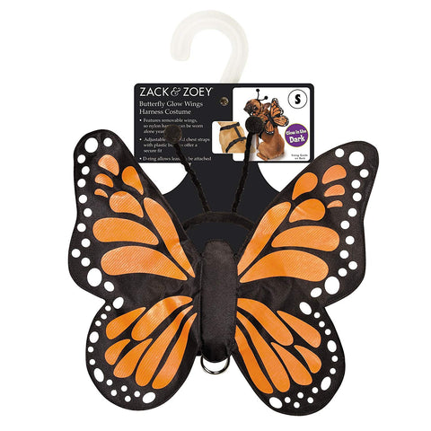 Zack and Zoey Monarch Butterfly Dog Costume XS
