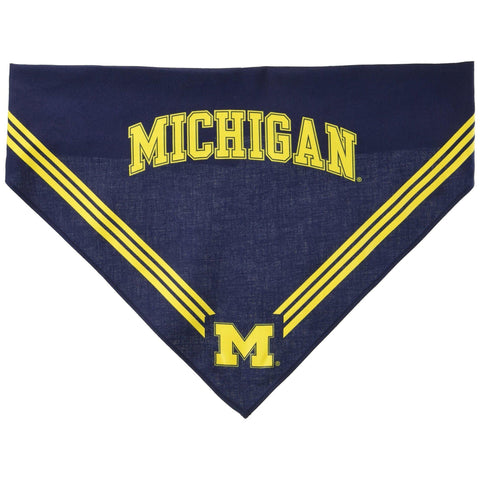 University of Michigan Dog Bandana SMALL-DOG-Sporty K9-Pets Go Here bandana, dc, ncaa, sports, sports bandana, sporty k9 Pets Go Here, petsgohere