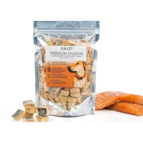 All Natural Wild Alaskan Dog Treats SALMON Bites Freeze-DOG-IMK9-Pets Go Here freeze-dried, grain free, imk9, joint, pet meds, pet supplements, salmon, treat Pets Go Here, petsgohere