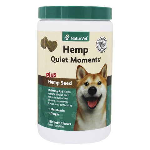 NaturVet Hemp Quiet Moments for Dogs 180 Soft Chews