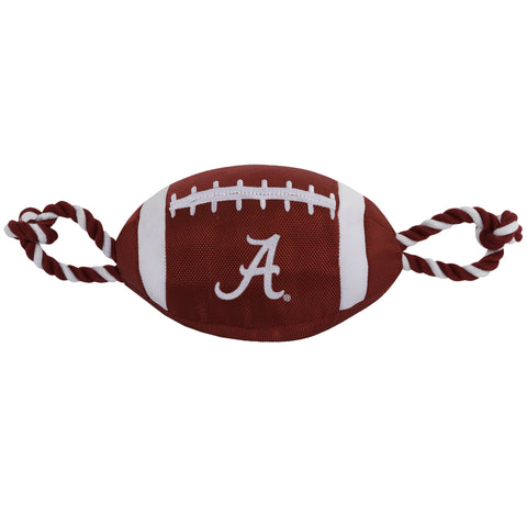 NCAA Alabama Crimson Tide Nylon Football Dog Toy doggienation, ds, pets first, sports, sports toys Pets Go Here, petsgohere