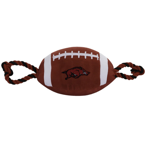 NCAA Arkansas Razorbacks Nylon Football Dog Toy doggienation, ds, ncaa, ncaa sports, sports toys Pets Go Here, petsgohere