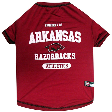 Arkansas Razorbacks Dog Shirt-DOG-Pets First-LARGE-Pets Go Here l, m, ncaa, pets first, s, sport shirt, test, xl, xs Pets Go Here, petsgohere