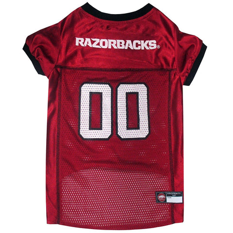 Arkansas Razorbacks Dog Jersey-DOG-Pets First-X-SMALL-Pets Go Here jersey, l, m, ncaa, orange, pets first, s, sports, sports jersey, xl, xs Pets Go Here, petsgohere