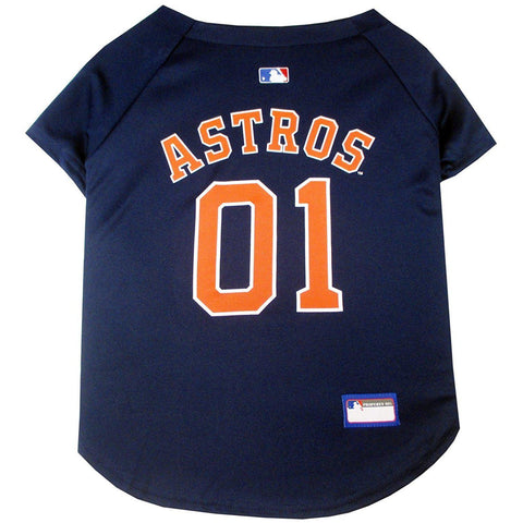 Houston Astros Dog Jersey-DOG-Pets First-X-SMALL-Pets Go Here