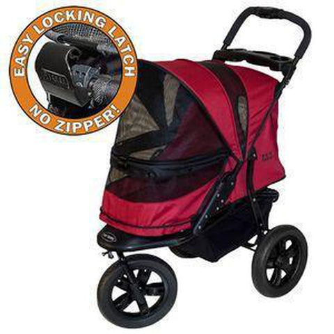 Pet Gear No-Zip AT3 Pet Stroller-DOG-Pet Gear-RUGGED RED-Pets Go Here green, pet gear, stroller Pets Go Here, petsgohere