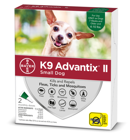 K9 Advantix Flea and Tick Treatment for Dogs Under 10 Lb 6 Months