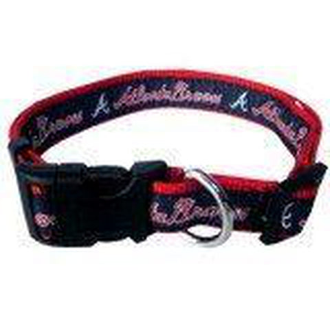 Atlanta Braves Dog Collar-DOG-Hunter-LARGE-Pets Go Here