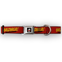 Buckle Down Big Bang Theory Bazinga Dog Collar