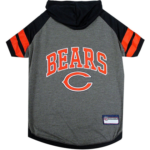 Chicago Bears Dog Hoodie Shirt-DOG-Pets First-LARGE-Pets Go Here l, m, nfl, pets first, s, sport shirt, sports shirt, test, xl, xs Pets Go Here, petsgohere