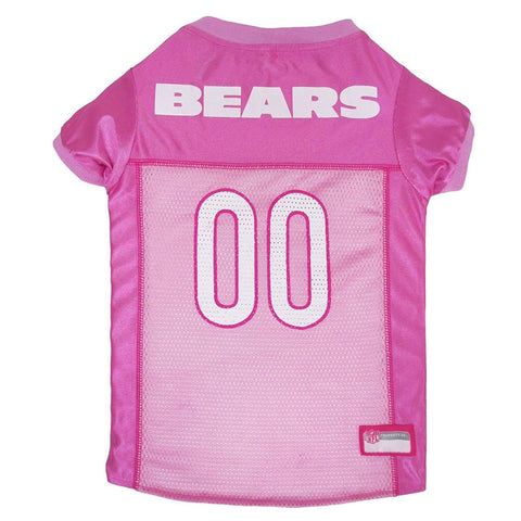 Chicago Bears Dog Jersey PINK-DOG-Pets First-LARGE-Pets Go Here