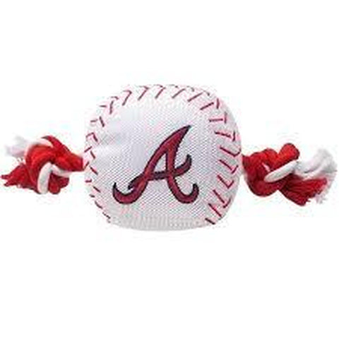 Atlanta Braves Dog Toy w/ Rope-DOG-Pet Goods-Pets Go Here