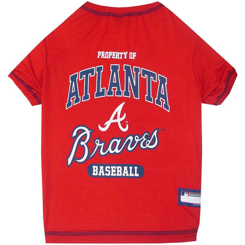 Atlanta Braves Dog Shirt-DOG-Pets First-X-SMALL-Pets Go Here l, m, mlb, pets first, s, sport shirt, xl, xs Pets Go Here, petsgohere