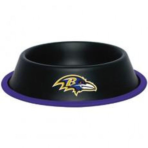 Baltimore Ravens Dog Bowl-DOG-Hunter-Pets Go Here black, dc, hunter, nfl, sports, sports bowl, stainless steel Pets Go Here, petsgohere