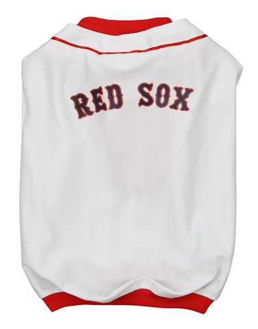 MLB Boston Red Sox Baseball Dog Jersey WHITE S