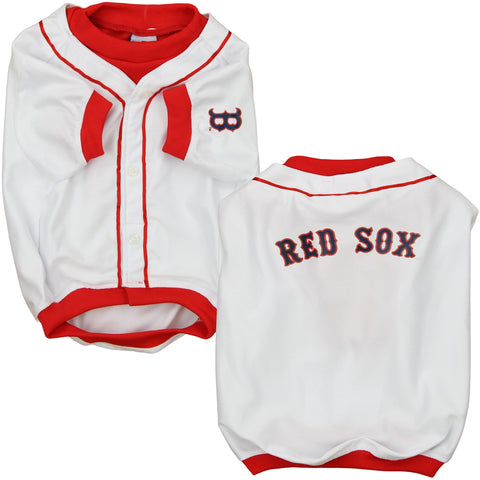 MLB Boston Red Sox Baseball Dog Jersey WHITE