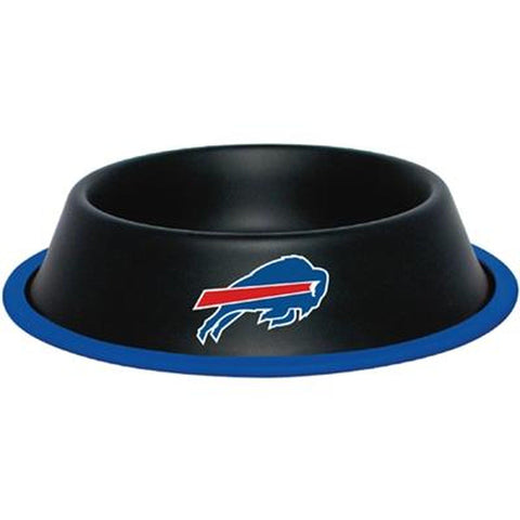 Buffalo Bills Dog Bowl-DOG-Hunter-Pets Go Here black, dc, hunter, nfl, sports, sports bowl, stainless steel Pets Go Here, petsgohere