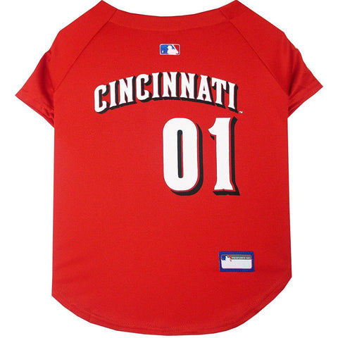 Cincinnati Reds Dog Jersey-DOG-Pets First-X-SMALL-Pets Go Here jersey, l, m, mlb, mlb jersey, pets first, red, s, sports, sports jersey, xl, xs Pets Go Here, petsgohere