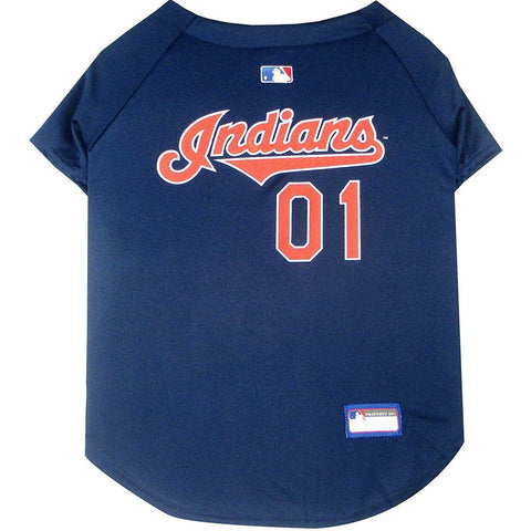 Cleveland Indians Dog Jersey-DOG-Pets First-X-SMALL-Pets Go Here jersey, l, m, mlb, mlb jersey, patch, pets first, s, sports, sports jersey, xl, xs Pets Go Here, petsgohere