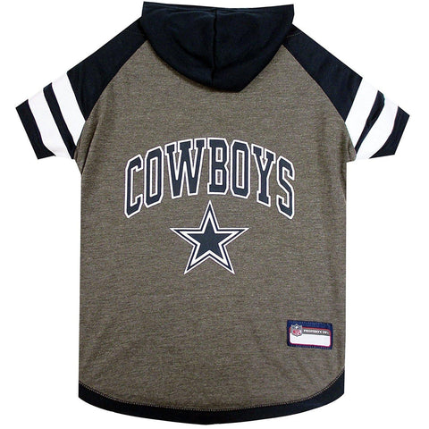 Dallas Cowboys Dog Hoodie Shirt-DOG-Pets First-LARGE-Pets Go Here