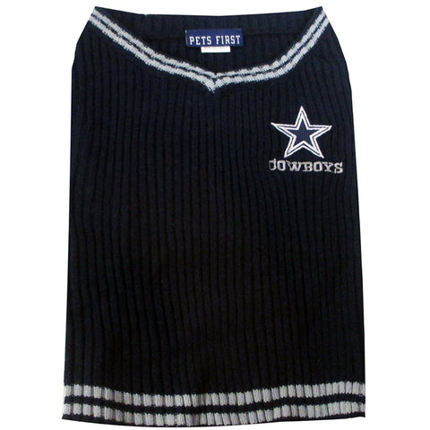 Dallas Cowboys Dog Sweater-DOG-Pets First-LARGE-Pets Go Here